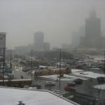 Warszawa under snow