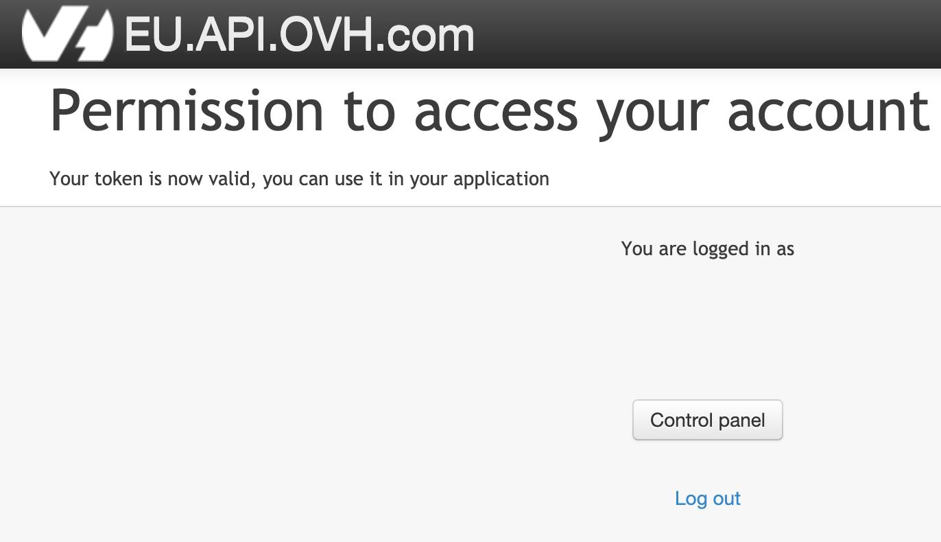 Création de clée d'API OVH/4